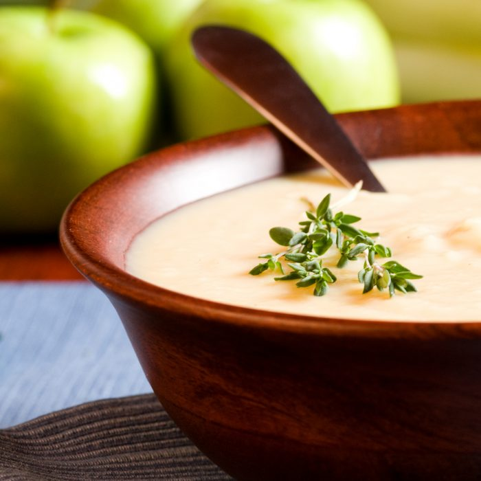 Apple and Roasted Parsnip Soup