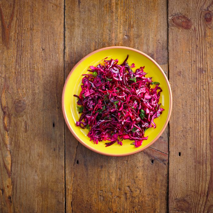 Beetroot and apple winter salad
