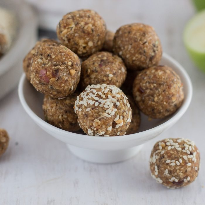 Peanut and Apple Protein Balls