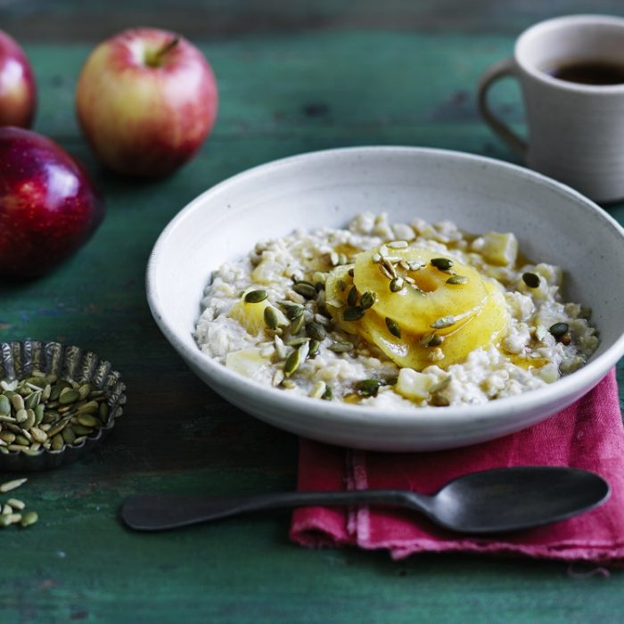 Dairy Free Apple And Oat Breakfast Bowl
