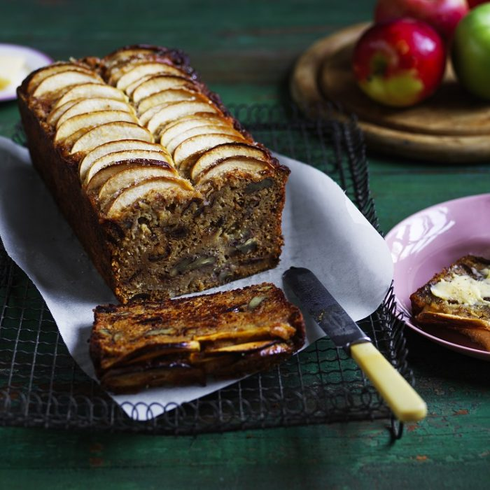 Farmhouse apple, date and pecan loaf